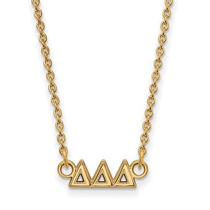 Picture of Delta Delta Delta Sorority Sterling Silver Gold Plated Extra Small Pendant Necklace