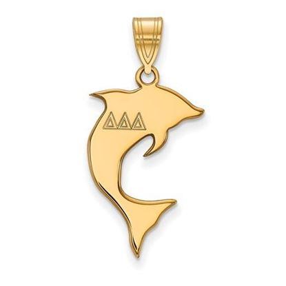 Picture of Delta Delta Delta Sorority Sterling Silver Gold Plated Medium Pendant