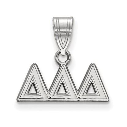 Picture of Delta Delta Delta Sorority Sterling Silver Medium Pendant