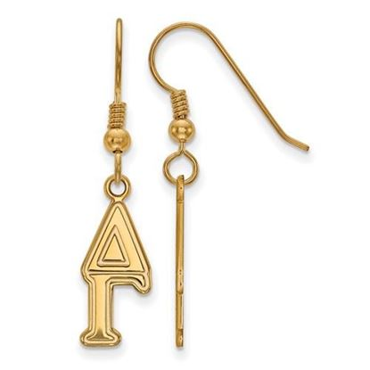 Picture of Delta Gamma Sorority Sterling Silver Gold Plated Dangle Medium Earrings