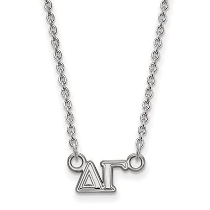 Picture of Delta Gamma Sorority Sterling Silver Extra Small Pendant Necklace