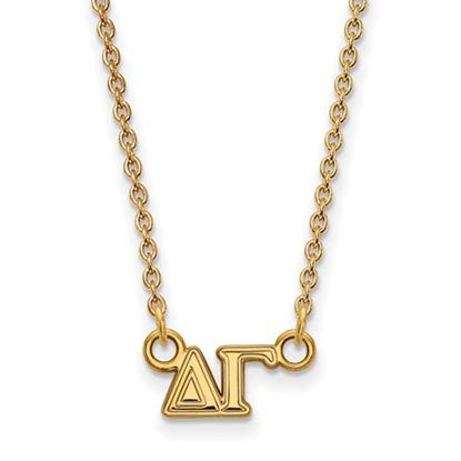 Picture of Delta Gamma Sorority Sterling Silver Gold Plated Extra Small Pendant Necklace