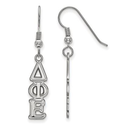 Picture of Delta Phi Epsilon Sorority Sterling Silver Dangle Earrings
