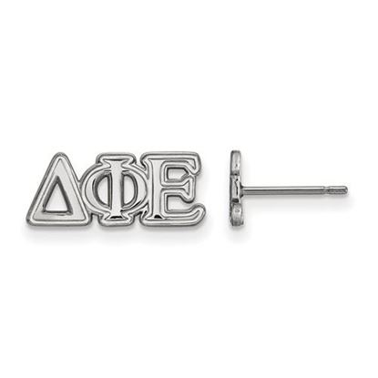 Picture of Delta Phi Epsilon Sorority Sterling Silver Extra Small Post Earrings