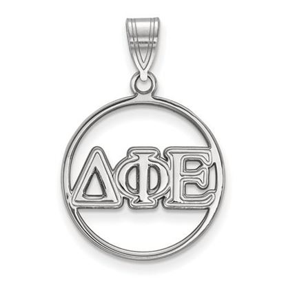 Picture of Delta Phi Epsilon Sorority Sterling Silver Circle Pendant