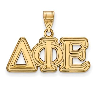 Picture of Delta Phi Epsilon Sorority Sterling Silver Gold Plated Medium Pendant