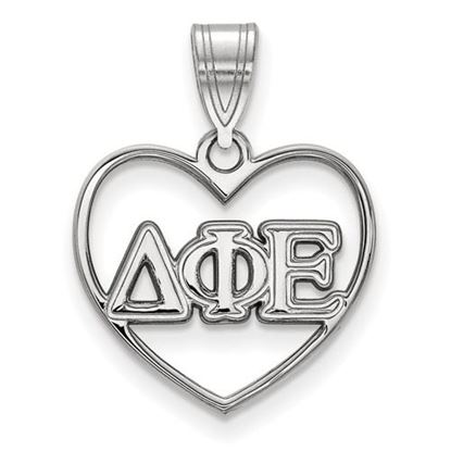Picture of Delta Phi Epsilon Sorority Sterling Silver Heart Pendant
