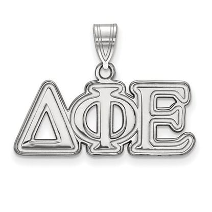 Picture of Delta Phi Epsilon Sorority Sterling Silver Medium Pendant
