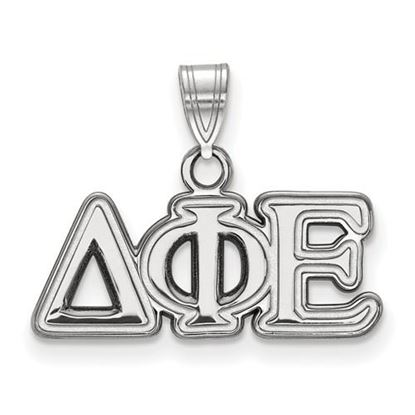 Picture of Delta Phi Epsilon Sorority Sterling Silver Small Pendant
