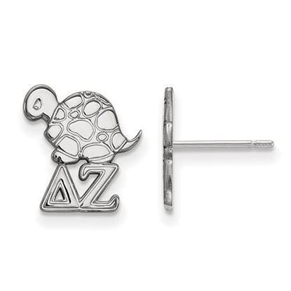 Picture of Delta Zeta Sorority Sterling Silver Extra Small Post Earrings