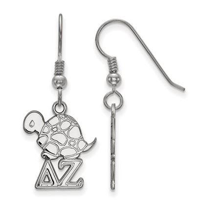 Picture of Delta Zeta Sorority Sterling Silver Small Dangle Earrings