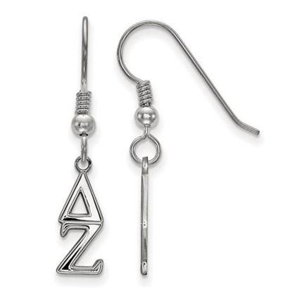 Picture of Delta Zeta Sorority Sterling Silver Dangle Earrings