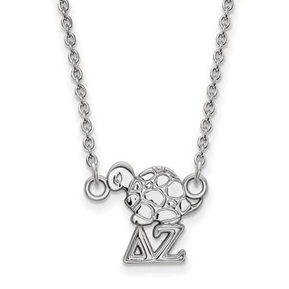 Picture of Delta Zeta Sorority Sterling Silver Extra Small Pendant Necklace