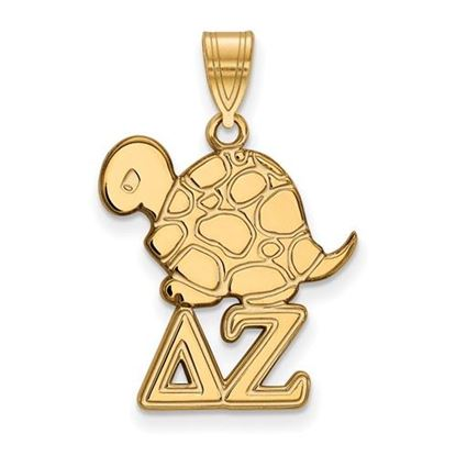Picture of Delta Zeta Sorority Sterling Silver Gold Plated Medium Pendant