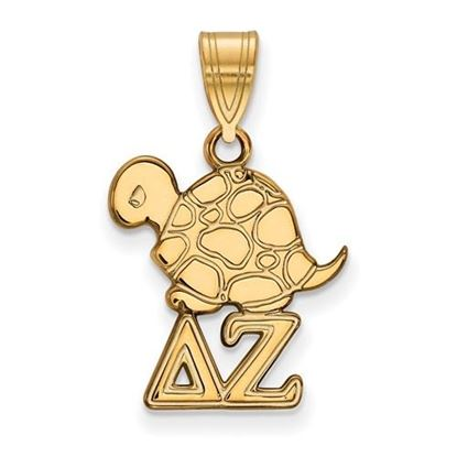 Picture of Delta Zeta Sorority Sterling Silver Gold Plated Small Pendant