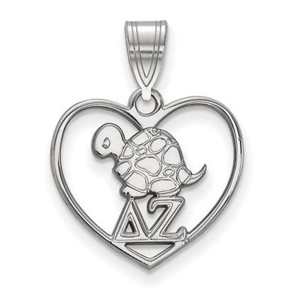 Picture of Delta Zeta Sorority Sterling Silver Heart Pendant