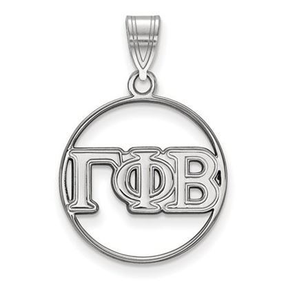 Picture of Gamma Phi Beta Sorority Sterling Silver Circle Pendant