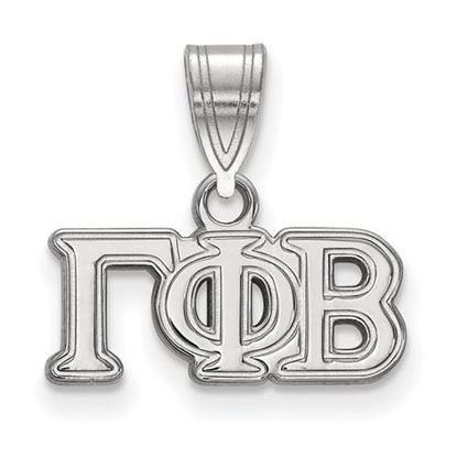 Picture of Gamma Phi Beta Sorority Sterling Silver Medium Pendant