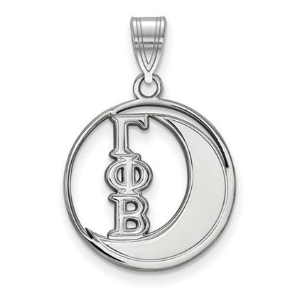 Picture of Gamma Phi Beta Sorority Sterling Silver Small Circle Pendant