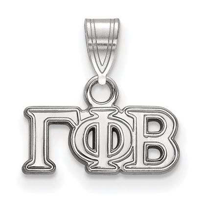Picture of Gamma Phi Beta Sorority Sterling Silver Small Pendant