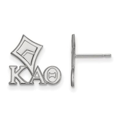 Picture of Kappa Alpha Theta Sorority Sterling Silver Extra Small Post Earrings