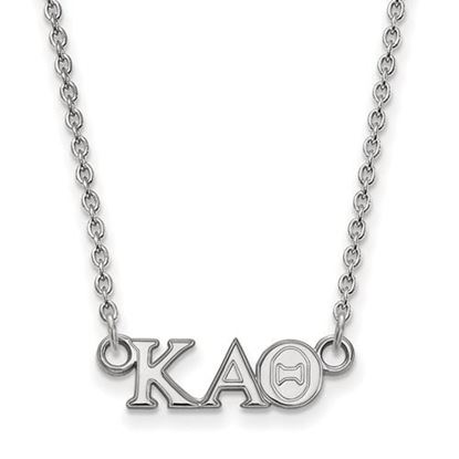 Picture of Kappa Alpha Theta Sorority Sterling Silver Extra Small Pendant Necklace