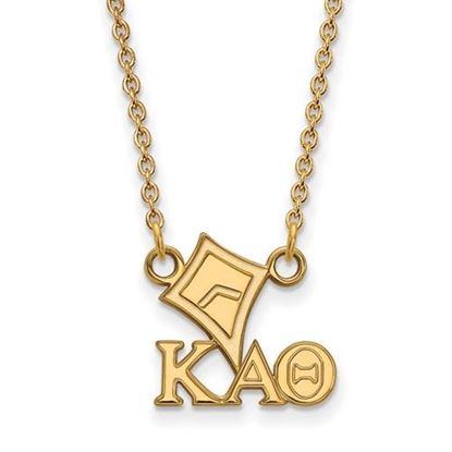 Picture of Kappa Alpha Theta Sorority Gold Plated Kite Pendant Necklace