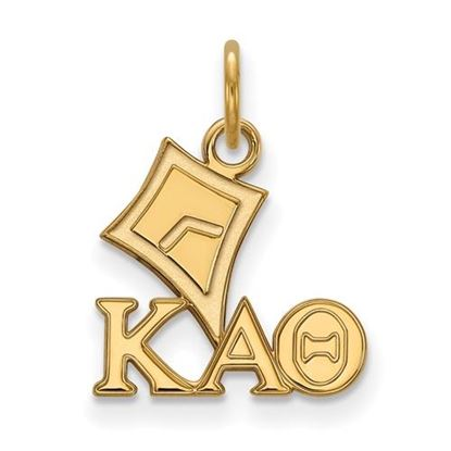 Picture of Kappa Alpha Theta Sorority Sterling Silver Gold Plated Extra Small Pendant