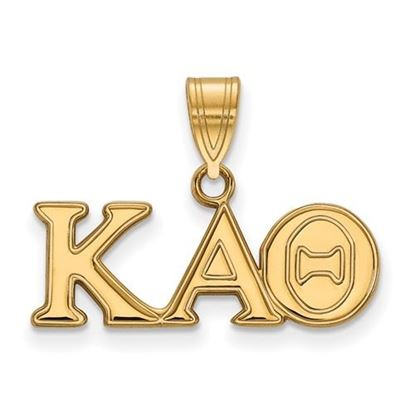 Picture of Kappa Alpha Theta Sorority Sterling Silver Gold Plated Medium Pendant