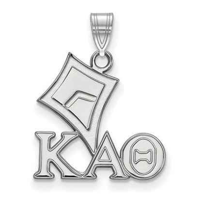Picture of Kappa Alpha Theta Sorority Sterling Silver Small Pendant