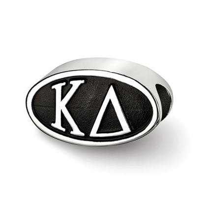 Picture of Kappa Delta Sorority Sterling Silver Oval Symbol Letter Bead