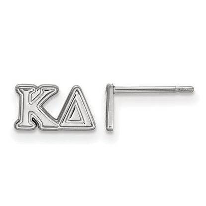 Picture of Kappa Delta Sorority Sterling Silver Extra Small Post Earrings
