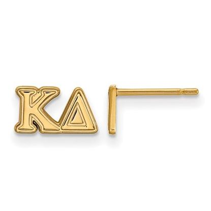 Picture of Kappa Delta Sorority Sterling Silver Gold Plated Extra Small Post Earrings