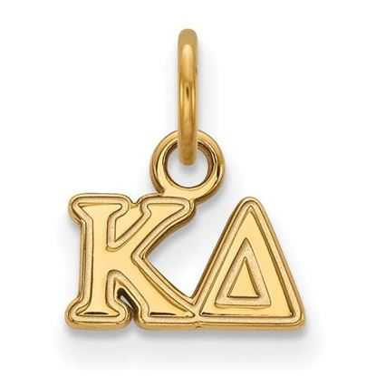 Picture of Kappa Delta Sorority Sterling Silver Gold Plated Extra Small Pendant