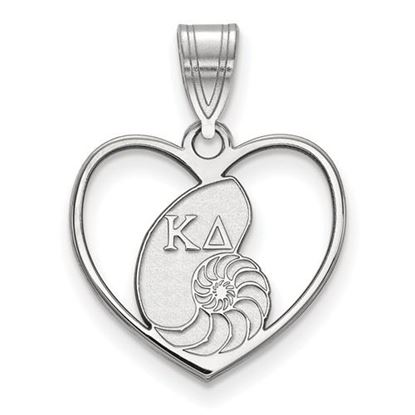 Picture of Kappa Delta Sorority Sterling Silver Heart Pendant