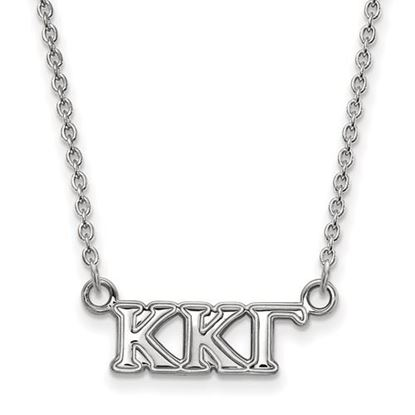 Picture of Kappa Kappa Gamma Sorority Sterling Silver Extra Small Pendant Necklace