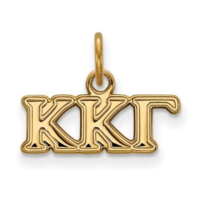 Picture of Kappa Kappa Gamma Sorority Sterling Silver Gold Plated Extra Small Pendant