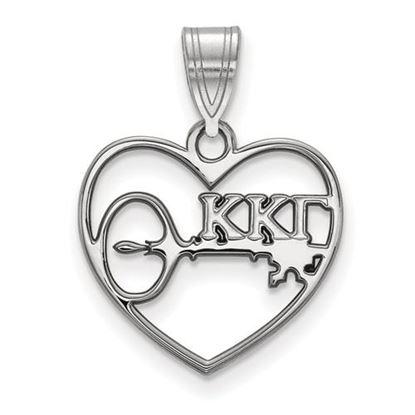 Picture of Kappa Kappa Gamma Sorority Sterling Silver Heart Pendant