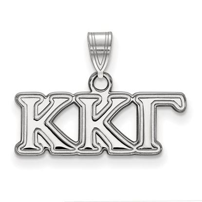 Picture of Kappa Kappa Gamma Sorority Sterling Silver Small Pendant