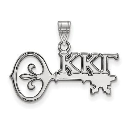 Picture of Kappa Kappa Gamma Sorority Sterling Silver Small Pendant