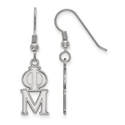 Picture of Phi Mu Sorority Sterling Silver Dangle Earrings