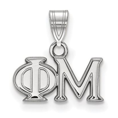 Picture of Phi Mu Sorority Sterling Silver Small Pendant