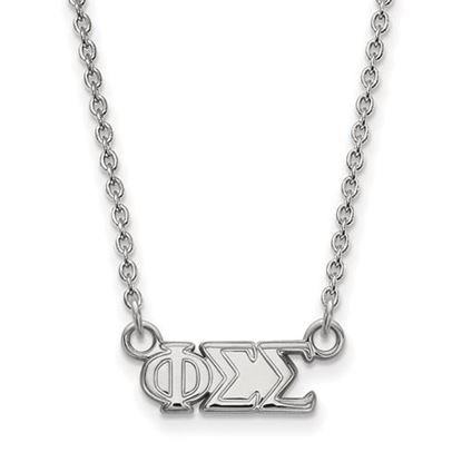 Picture of Phi Sigma Sigma Sorority Sterling Silver Extra Small Pendant Necklace