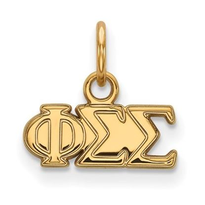 Picture of Phi Sigma Sigma Sorority Sterling Silver Gold Plated Extra Small Pendant
