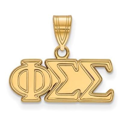 Picture of Phi Sigma Sigma Sorority Sterling Silver Gold Plated Medium Pendant