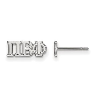 Picture of Pi Beta Phi Sorority Sterling Silver Extra Small Post Earrings