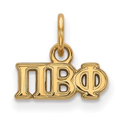 Picture of Pi Beta Phi Sorority Sterling Silver Gold Plated Extra Small Pendant