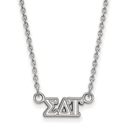 Picture of Sigma Delta Tau Sorority Sterling Silver Extra Small Pendant Necklace