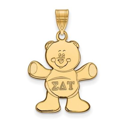 Picture of Sigma Delta Tau Sorority Sterling Silver Gold Plated Medium Pendant