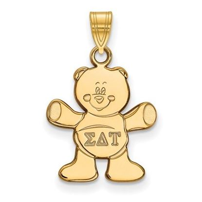 Picture of Sigma Delta Tau Sorority Sterling Silver Gold Plated Small Pendant